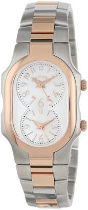 Philip Stein Teslar Women's 1TRG-FMOP-SSTRG Signature Two-Tone Rose Gold-Plated Stainless Steel Bracelet Watch