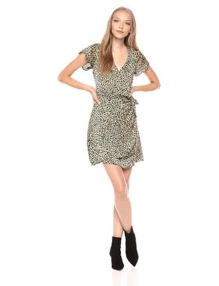 Cupcakes And Cashmere Women's Lenna Leopard Print Wrap Dress
