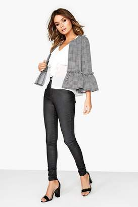 Girls On Film Outlet Grey Check Jacket