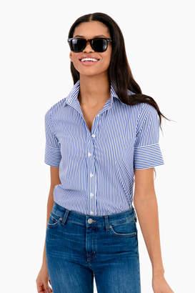 Icon Eyewear The Shirt by Rochelle Behrens Essential Striped Short Sleeve Shirt