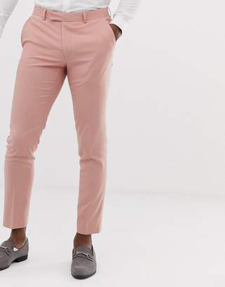slim suit trouser in dusty pink