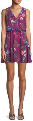 Parker Lexi Floral-Print Silk Mini Dress