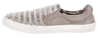 Stuart Weitzman Embellished Slip-On Sneakers