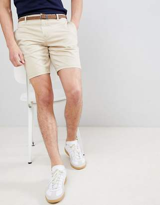 Pull&Bear Chino Shorts In Beige