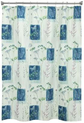 Bacova Guild Butterfly Floral Shower Curtain