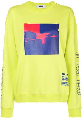 MSGM graphic print sweatshirt