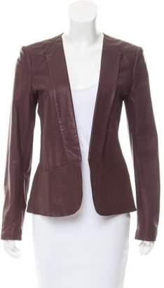 Theory Leather Blazer Jacket