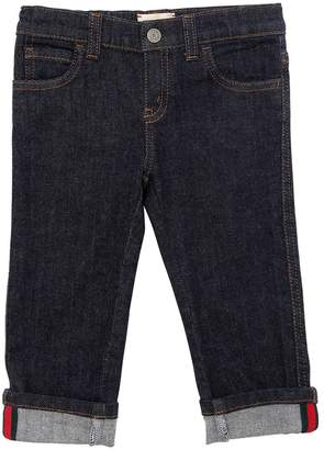 Gucci Stretch Denim Jeans With Web Detail