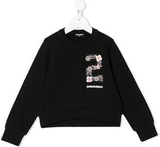 DSQUARED2 beaded logo sweatshirt