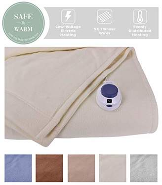 SoftHeat by Perfect Fit | Luxury Micro-Fleece Low-Voltage Electric Heated Blanket (Twin