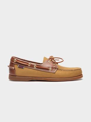 at Glue Store Sebago Docksides Portland Spinnaker Boat Shoes in Tan Dark  Brown 7ad6c9dcc0