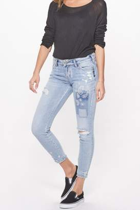 Silver Jeans Co. Distressed Skinny Jeans