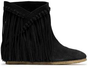 Castaner Fringed Suede Ankle Boots
