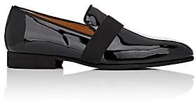 di Bianco DI BIANCO MEN'S PATENT LEATHER VENETIAN SLIPPERS-BLACK SIZE 13 M