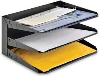 MMF Industries MMF, MMF2643004, Horizontal Desk File Trays, 1 Each, Black