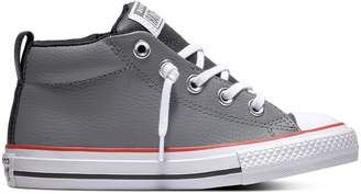 Converse Boys' Chuck Taylor All Star Street Mid Leather Sneakers