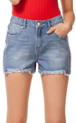 Dex Frayed Denim Shorts