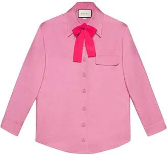 Gucci Silk bow shirt