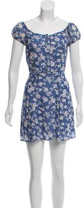 Reformation Floral Chiffon Dress