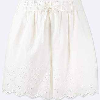 Uniqlo Women's Eyelet Shorts