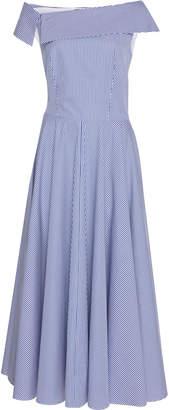 Martin Grant Striped Cotton Midi Dress