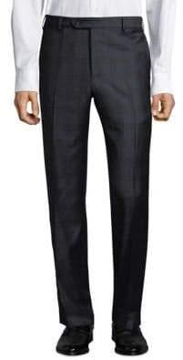 Zanella Devon Plaid Wool Trousers