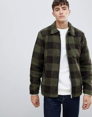 Buffalo David Bitton D-Struct Borg Check Over-sized Jacket