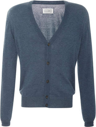 Maison Margiela Elbow-Patch Wool And Cotton-Blend Cardigan