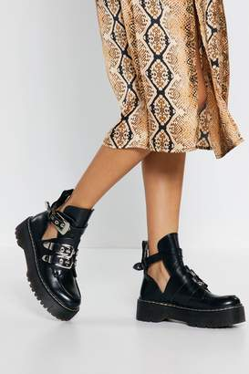 Nasty Gal Flatform Cut Out Ankle Boots