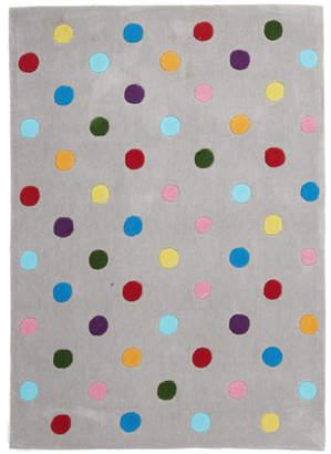 Kids Dots Design Rug Grey
