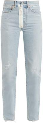 Off-White Straight-leg distressed jeans