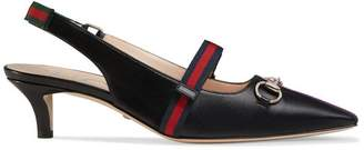 Gucci Mid-heel pump with Web