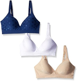 Barely There Women's Custom Flex Fit Seamless Wirefree Bra (Pack of 3) $102 thestylecure.com