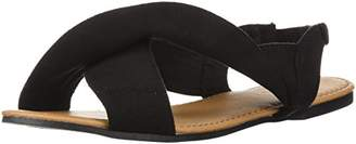 Qupid Women's X-Band Sandal Flat