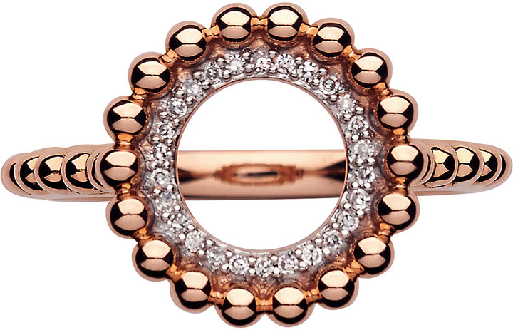Links Of LondonLinks of London Effervescence 18ct rose-gold & diamond ring