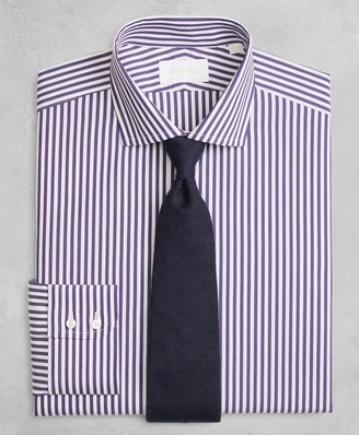 Brooks Brothers Golden Fleece Regent Fitted Dress Shirt, English Collar Stripe