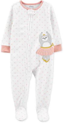 Carter's Carter Toddler Girls 1-Pc. Ballerina Sloth Fleece Footie Pajamas