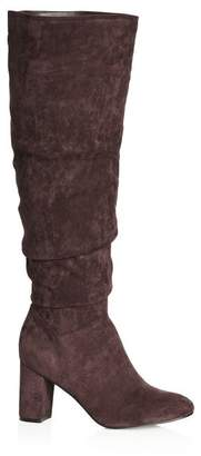 City Chic Citychic Petra Knee High Boot - mocha