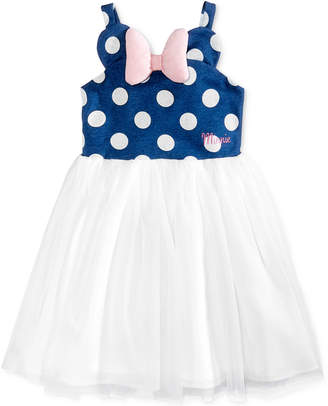 Disney's® Minnie Mouse Polka Dot & Mesh Dress, Toddler & Little Girls (2T-6X) $36 thestylecure.com