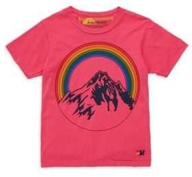 Aviator Nation Little Girl's& Girl's Mountain Rainbow Cotton T-Shirt