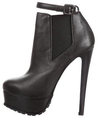 Vera Wang Leather Platform Booties w/ Tags