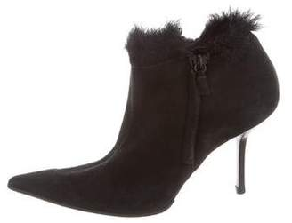 Narciso Rodriguez Suede Pointed-Toe Booties
