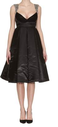 Philipp Plein This Wouldn't Be Right Short Satin Dress