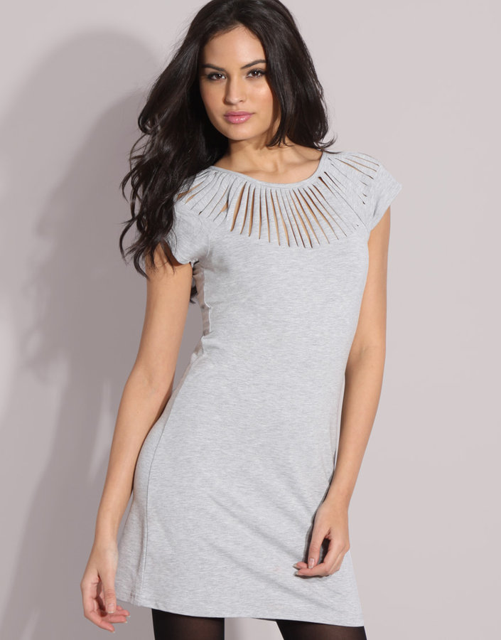 Vila Slash Shoulder Dress
