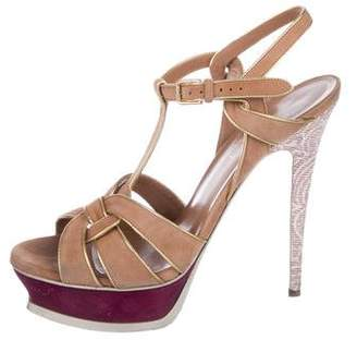 1765a7677928 Saint Laurent Peep Toe Women s Sandals - ShopStyle