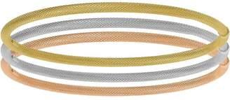 Italian Gold Set of 3 Tri-Colored Bangles 14K,10.6g