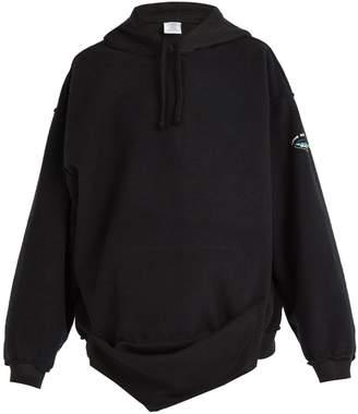 Vetements Inside-out hooded sweatshirt