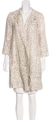 Raquel Allegra Linen Knee-Length Coat