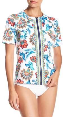 Tommy Bahama Fira Short Sleeve Zip Up Rashguard