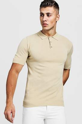 boohoo Regular Short Sleeve Knitted Polo